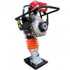 Tamping Rammer Diesel Mikasa MT 76 D TECHNICAL DATA & SPESIFIKASI · PLATE SIZE ( L x W ) : 340 x 285mm JUMPING STROKE : 85 mm · IMPACT NUMBER : 650-700 blow/ min IMPACT FORCE : 17, 5 kN( 1, 780 kgf) Power source : Yanmar L40-ADRM HP : 3.1 kW ( 4.2 PS) · Starting Method : Recoll · Fuel/ capacity : Diesel/ 3, 3 liter Overall LxWxH : 720x410x1, 000 Operating weight : 80 Kg DEFINISI PRODUK TAMPING RAMMER / STAMPER RAMMER ATAU STAMPER KUDA adalah alat atau mesin konstruksi yang biasa di gunakan untuk pemadatan Tanah dan aspal serta susunan batu untuk jalan maupun dalam pembangunan gedung atau pabrik, Dengan sistem Impact atau daya tekan sehingga mendapatkan struktur tanah ataupun aspal yang padat, Stamper ada dua pilihan dengan mengunakan bahan bakar yaitu Stamper berbahan bakan Solar dan Stamper berbahan bakar Bensin. Tamping Rammer dalam bahasa sehari-harinya lebih dikenal oleh para tukang-tukang adalah mesin stamper atau mesin stamper kuda. Tamping Rammer sendiri bekerja dengan mesin vibrator dan dioperasikan secara manual oleh operator (manusia). Tamping Rammer MIKASA MT-76D Stamper MIKASA MT–76 D (Yanmar L40 ADRM 4.2 HP) + Trolly Sangat Cocok digunakan Paling cocok untuk pemadatan tanah kohesif dan granular di daerah terbatas sempit dan paling ideal untuk pemadatan parit, backfills, aspal pekerjaan menambal dan lain-lain. Feature : > Double cleaner (cleaner utama dan pra-bersih = Empat filtrasi) perangkap kotoran udara dan partikel debu. Pre-cleaner memegang kotoran dan debu sebagian besar dan ini mengurangi perawatan di cleaner utama. > Mikasa asli Throttle Lever vertikal (Rack-dan jenis Pinion) - lebih mudah digunakan dan lebih tahan lama. Dampak Getaran disesuaikan dengan variabel Jumping stroke yang dapat diatur oleh kontrol throtte. > Poly Tangki Bahan Bakar - Bukti Korosi (High-density Polyethylene) > Bellows tangguh : Tulang rusuk (bentuk Honeycomb) memperkuat bellow untuk menjadi tahan lama terhadap guncangan eksternal. Ini adalah dengan paten > Opsi Nyaman 